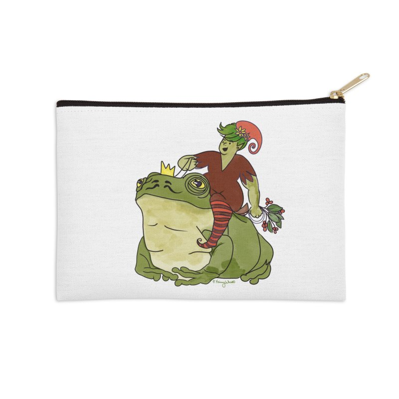 Elf and Frog King Accessories Zip Pouch by Whiski Tee