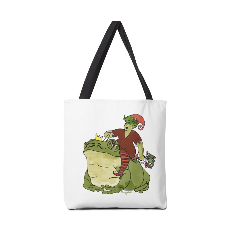 Elf and Frog King Accessories Bag by Whiski Tee