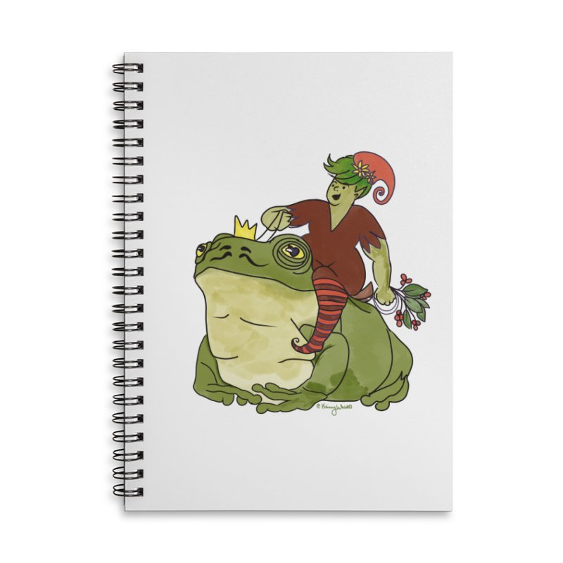 Elf and Frog King Accessories Notebook by Whiski Tee