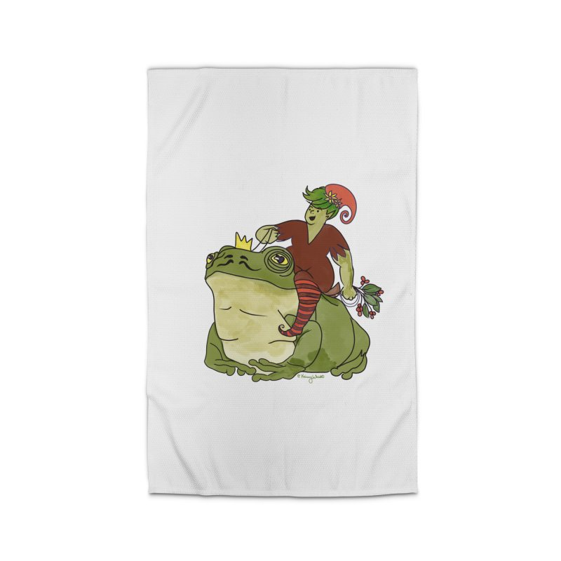 Elf and Frog King Home Rug by Whiski Tee
