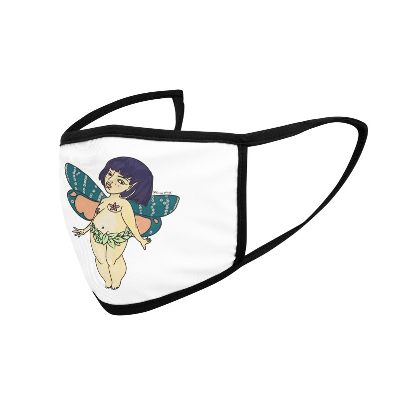 Curvy Fae Girl Accessories Face Mask by Whiski Tee