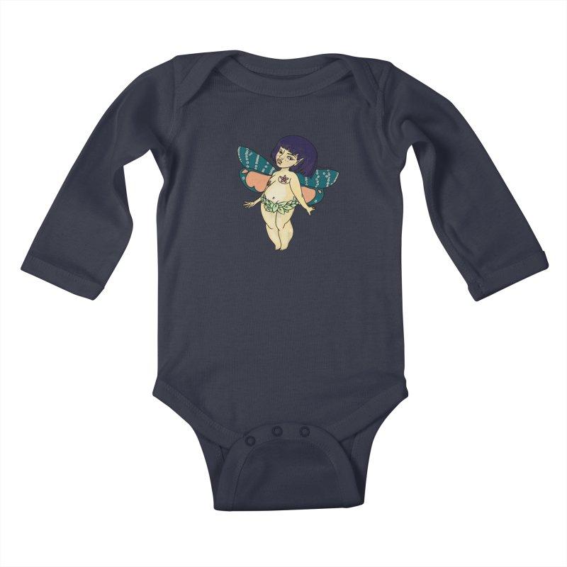 Curvy Fae Girl Kids Baby Longsleeve Bodysuit by Whiski Tee