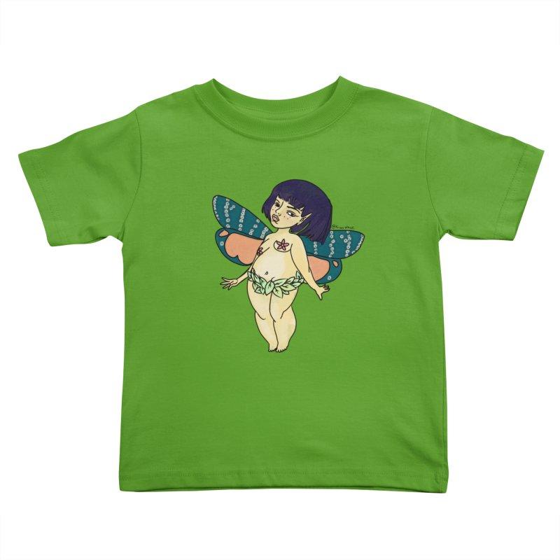 Curvy Fae Girl Kids Toddler T-Shirt by Whiski Tee