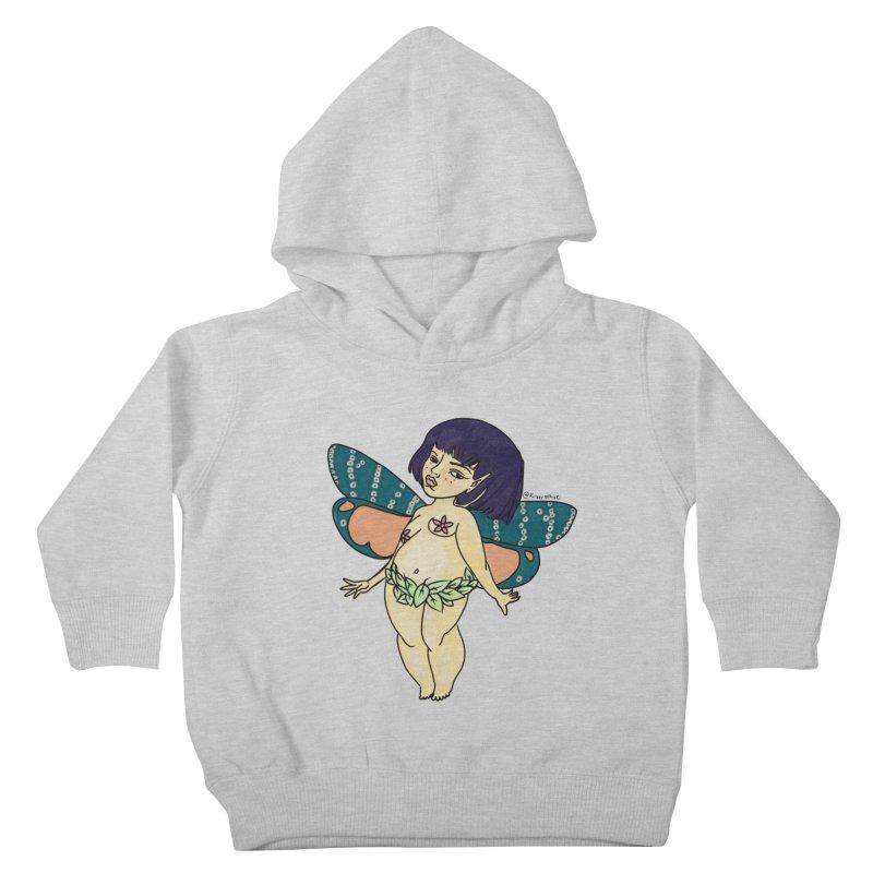 Curvy Fae Girl Kids Toddler Pullover Hoody by Whiski Tee