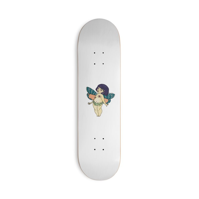Curvy Fae Girl Accessories Skateboard by Whiski Tee