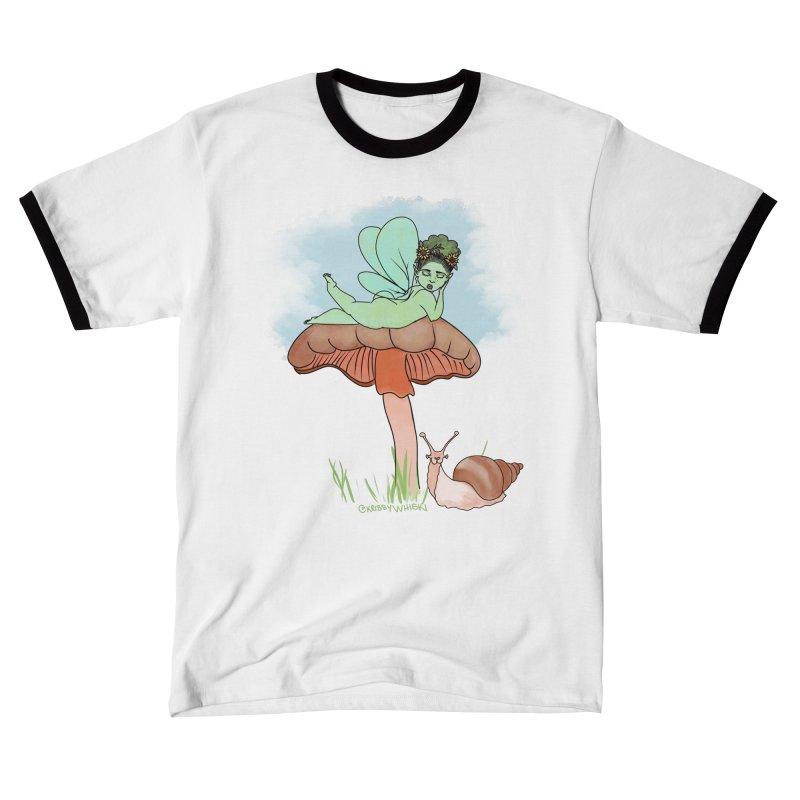 Fairie on Mushroom with Snail Friend Men's T-Shirt by Whiski Tee