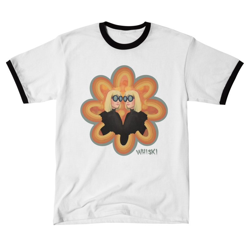 Retro Mod Evil Twins by Krissy Whiski Men's T-Shirt by Whiski Tee