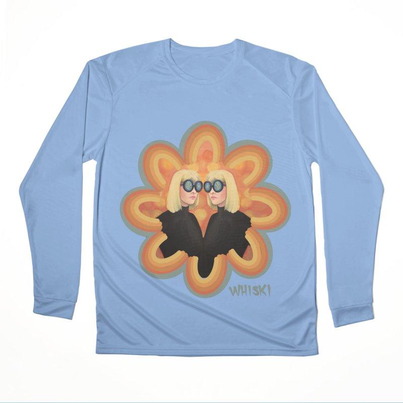 Retro Mod Evil Twins by Krissy Whiski Men's Longsleeve T-Shirt by Whiski Tee