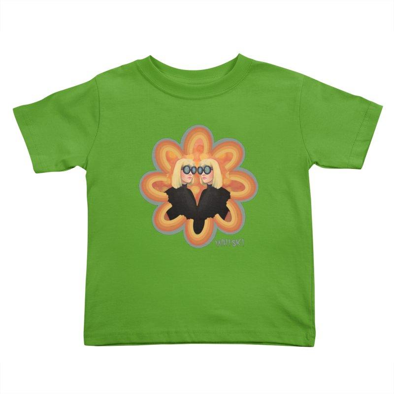 Retro Mod Evil Twins by Krissy Whiski Kids Toddler T-Shirt by Whiski Tee