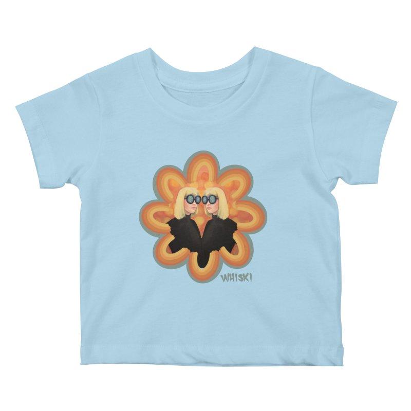 Retro Mod Evil Twins by Krissy Whiski Kids Baby T-Shirt by Whiski Tee