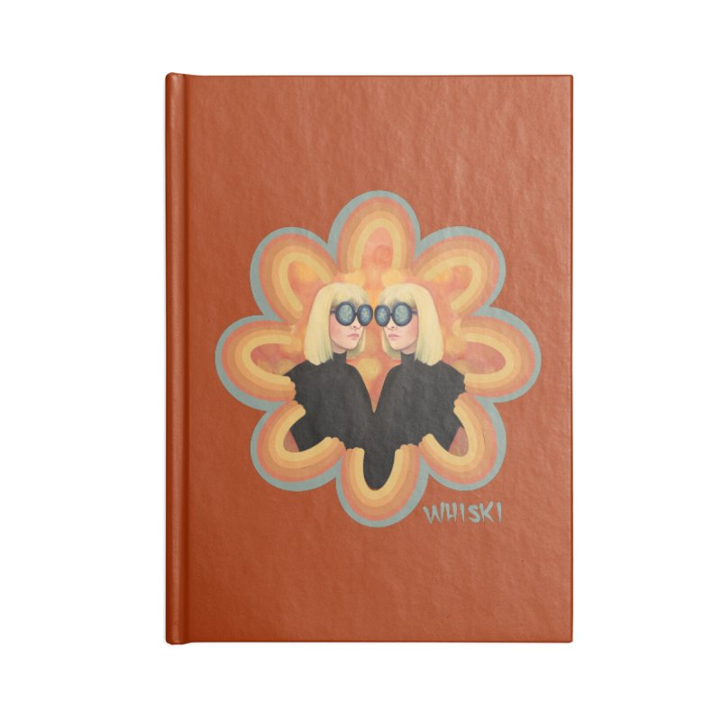 Retro Mod Evil Twins by Krissy Whiski Accessories Notebook by Whiski Tee