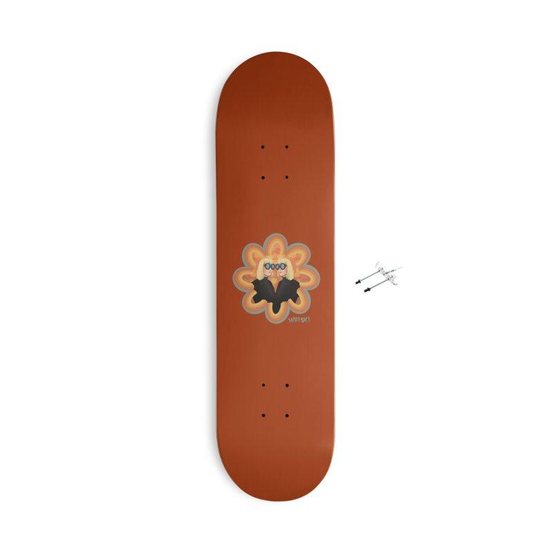 Retro Mod Evil Twins by Krissy Whiski Accessories Skateboard by Whiski Tee