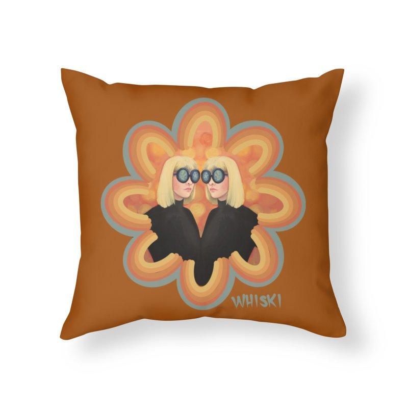 Retro Mod Evil Twins by Krissy Whiski Home Throw Pillow by Whiski Tee