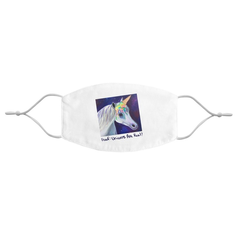 Cosmic Rainbow Sherbert Unicorn Accessories Face Mask by Whiski Tee