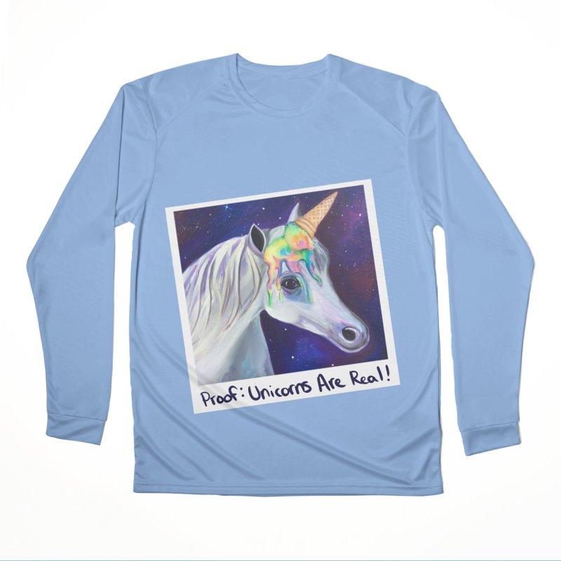 Cosmic Rainbow Sherbert Unicorn Women's Longsleeve T-Shirt by Whiski Tee