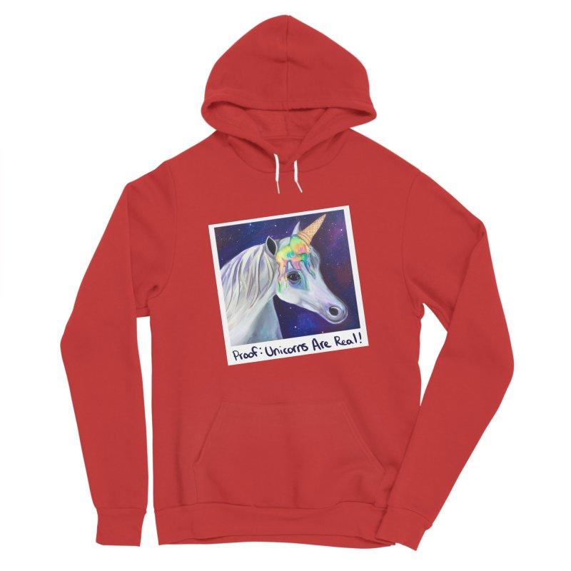 Cosmic Rainbow Sherbert Unicorn Women's Pullover Hoody by Whiski Tee