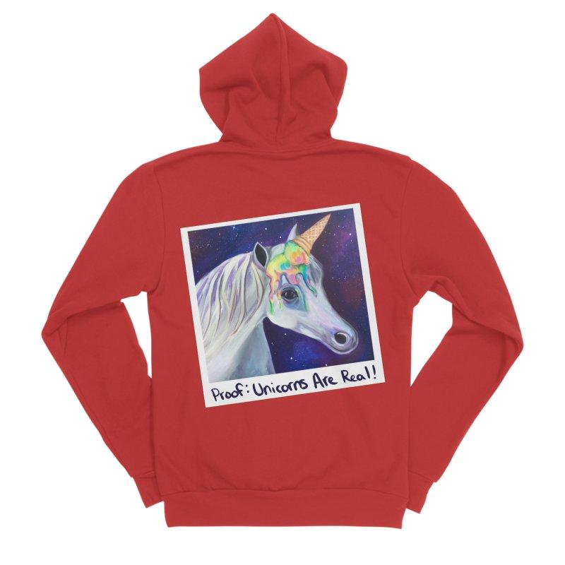 Cosmic Rainbow Sherbert Unicorn Women's Zip-Up Hoody by Whiski Tee
