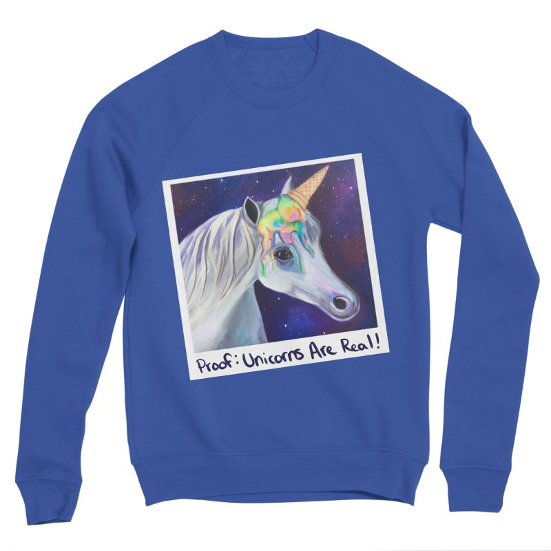 Cosmic Rainbow Sherbert Unicorn Men's Sweatshirt by Whiski Tee