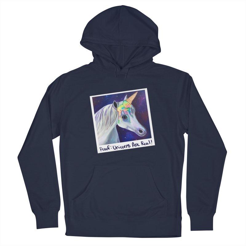 Cosmic Rainbow Sherbert Unicorn Men's Pullover Hoody by Whiski Tee