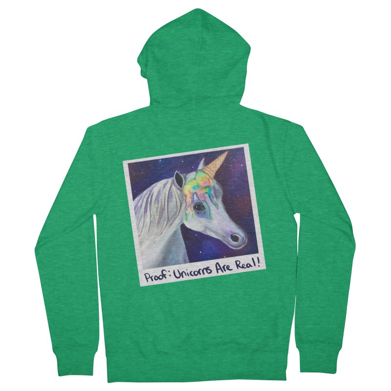 Cosmic Rainbow Sherbert Unicorn Men's Zip-Up Hoody by Whiski Tee