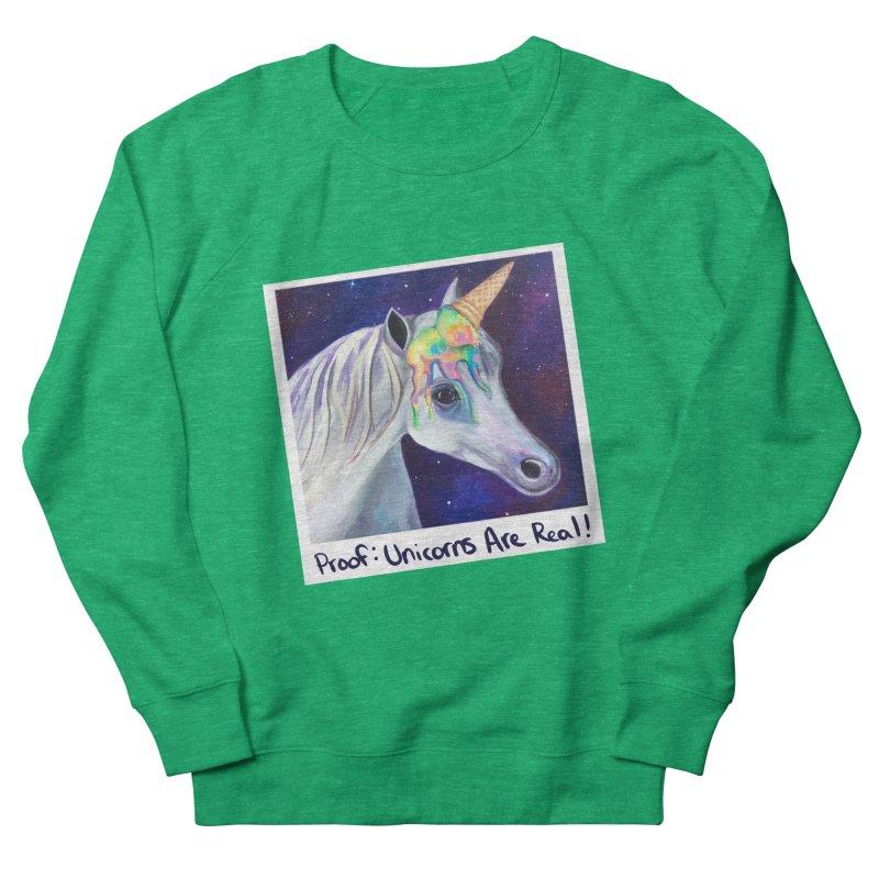 Cosmic Rainbow Sherbert Unicorn Women's Sweatshirt by Whiski Tee