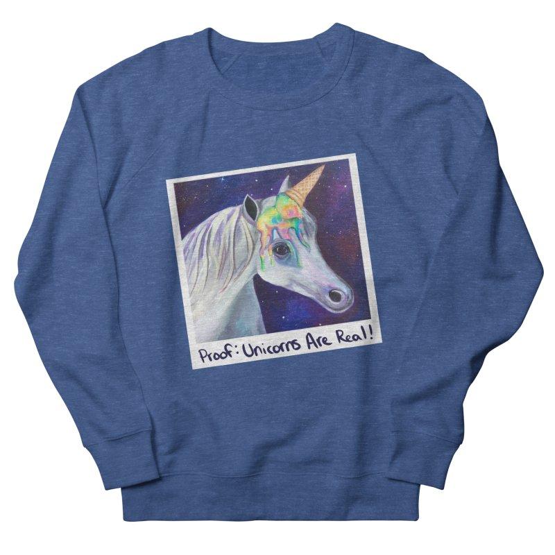 Cosmic Rainbow Sherbert Unicorn Men's Sweatshirt by Whiski Tee