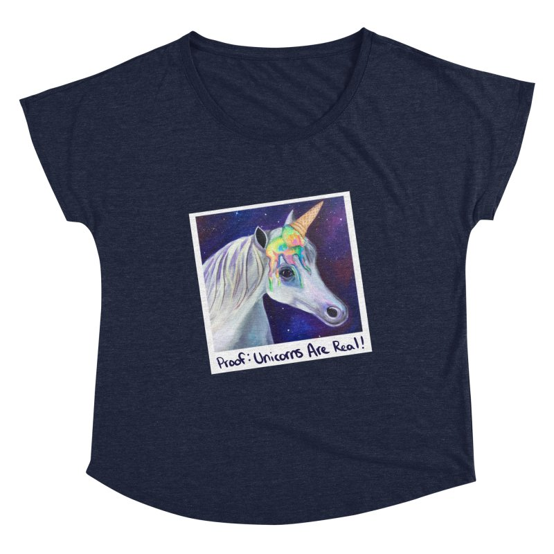 Cosmic Rainbow Sherbert Unicorn Women's Scoop Neck by Whiski Tee