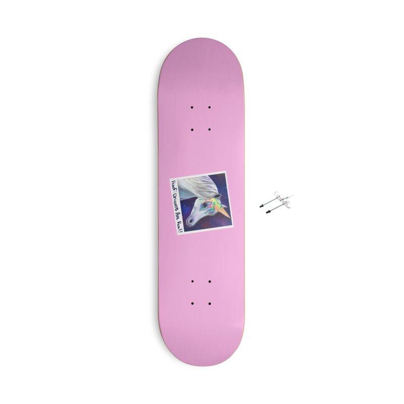 Cosmic Rainbow Sherbert Unicorn Accessories Skateboard by Whiski Tee