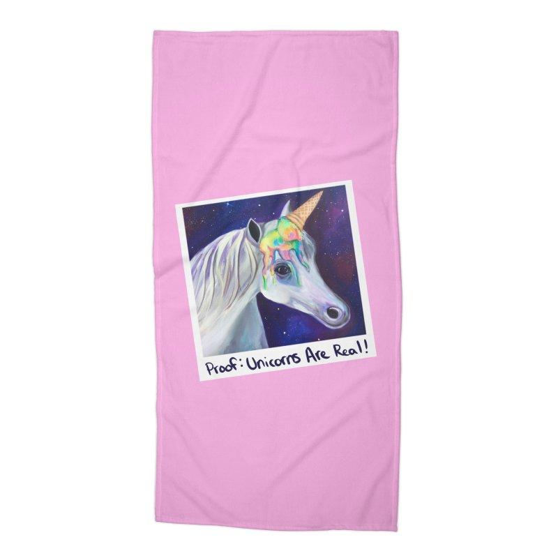 Cosmic Rainbow Sherbert Unicorn Accessories Beach Towel by Whiski Tee