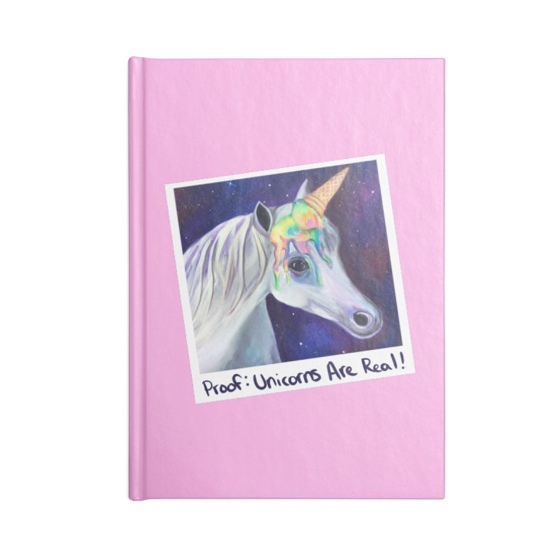 Cosmic Rainbow Sherbert Unicorn Accessories Notebook by Whiski Tee