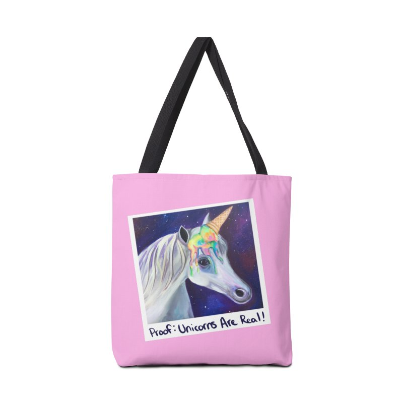 Cosmic Rainbow Sherbert Unicorn Accessories Bag by Whiski Tee