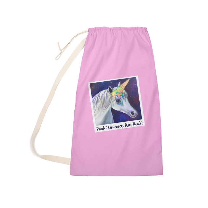 Cosmic Rainbow Sherbert Unicorn Accessories Bag by Whiski Tee