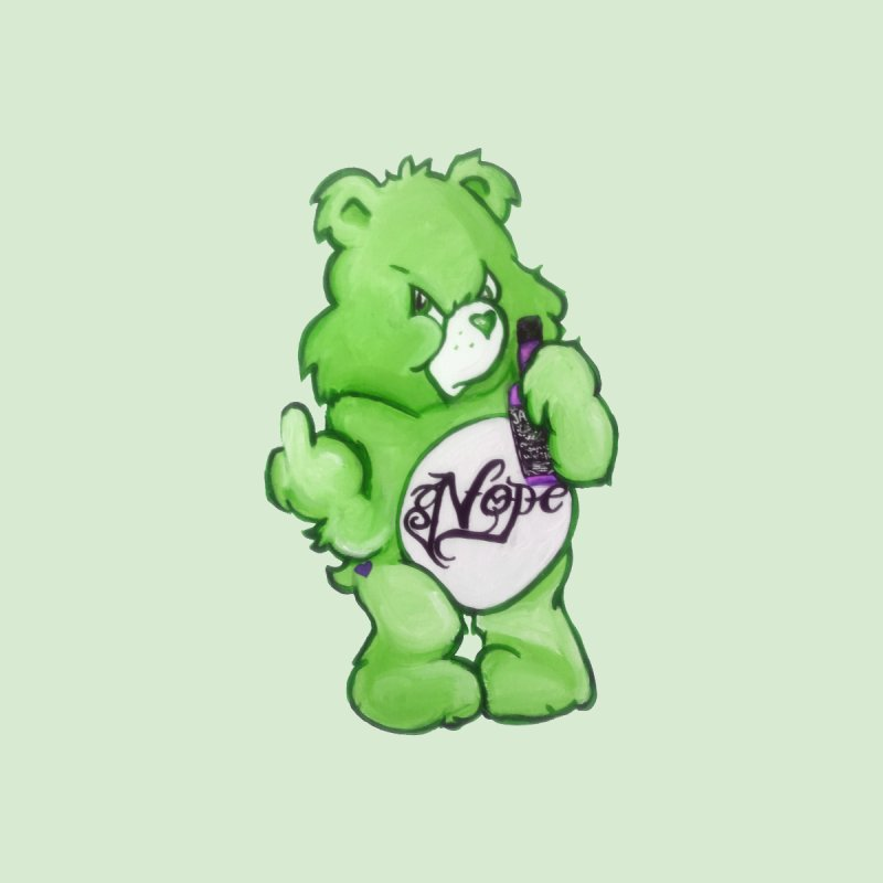 Don't Care Bear Green Home Rug by Whiski Tee