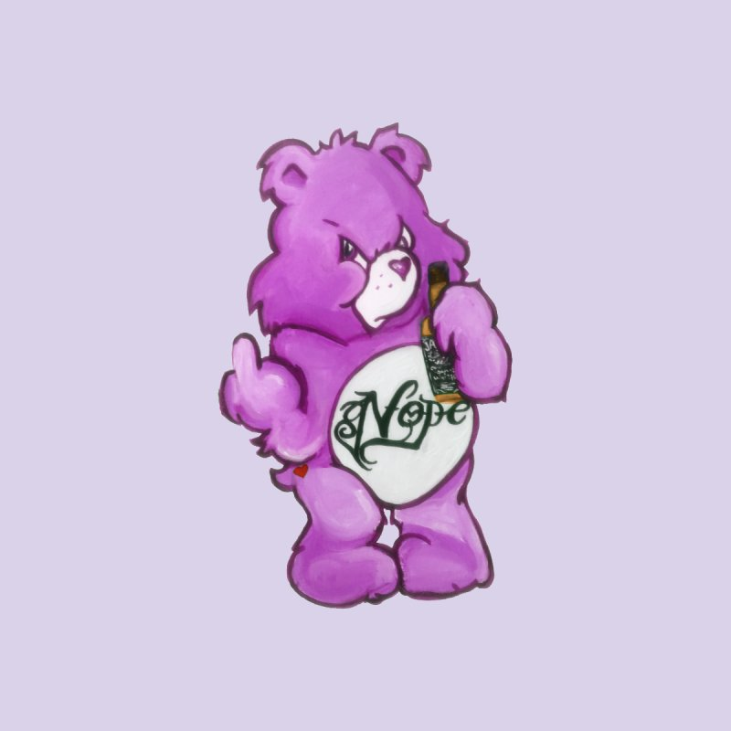Don't Care Bear Purple Accessories Bag by Whiski Tee