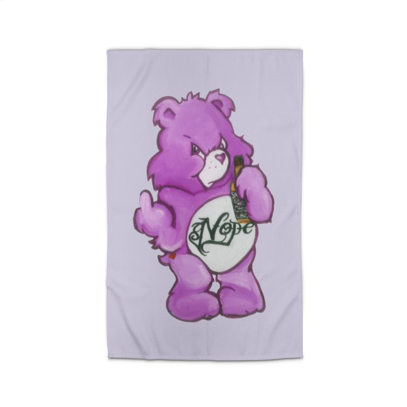 Don't Care Bear Purple Home Rug by Whiski Tee