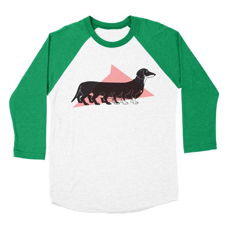 Centihund Women's Baseball Triblend Longsleeve T-Shirt by Kristin Tipping