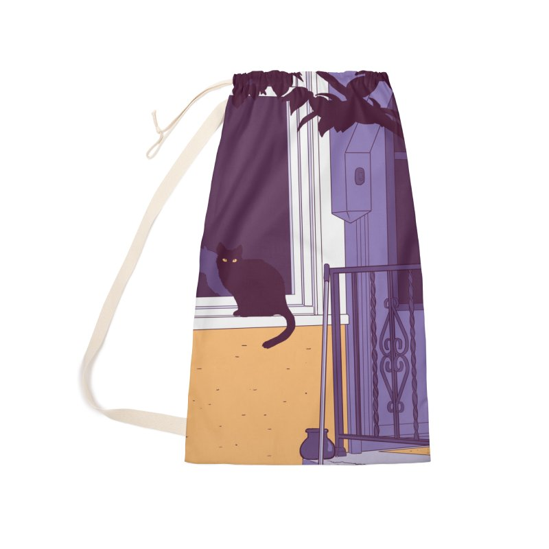 Black Cat Accessories Bag by Kristin Tipping