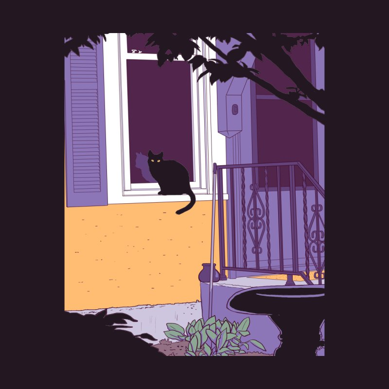 Black Cat Women's T-Shirt by Kristin Tipping