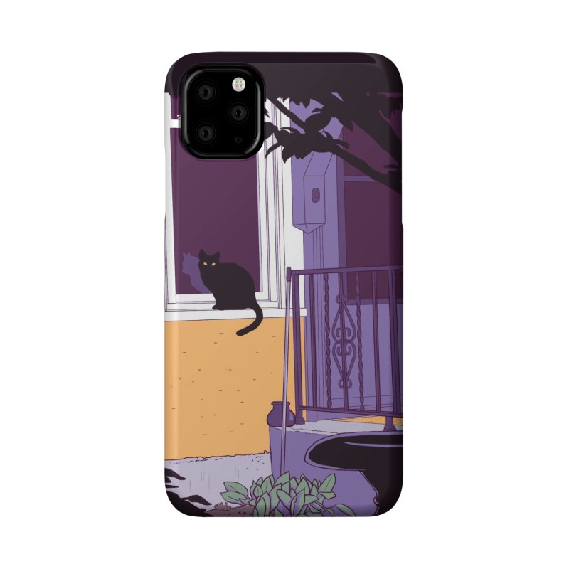 Black Cat Accessories Phone Case by Kristin Tipping
