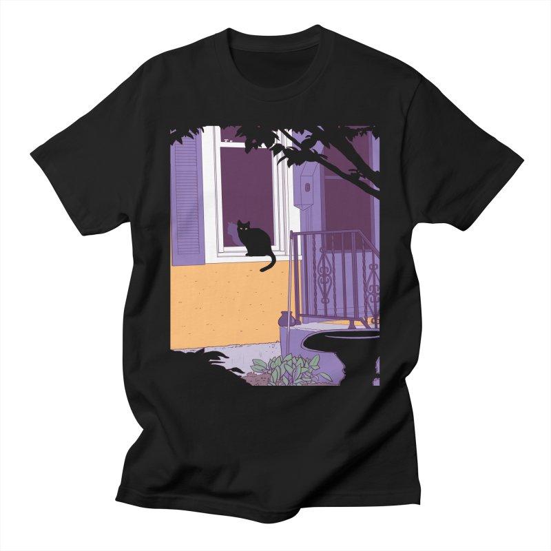 Black Cat Men's T-Shirt by Kristin Tipping