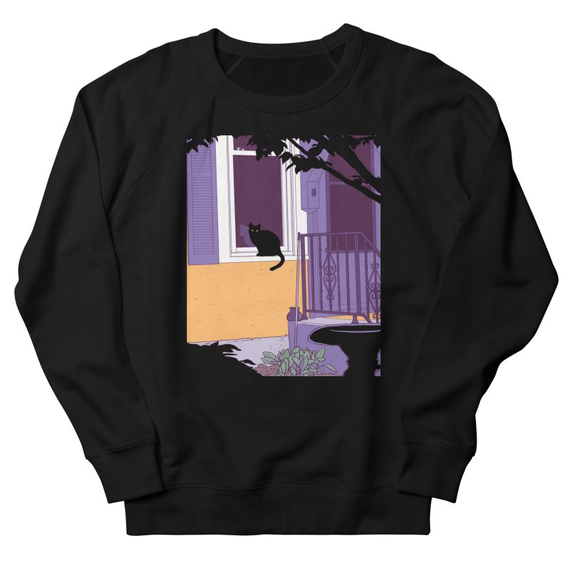 Black Cat Men's Sweatshirt by Kristin Tipping