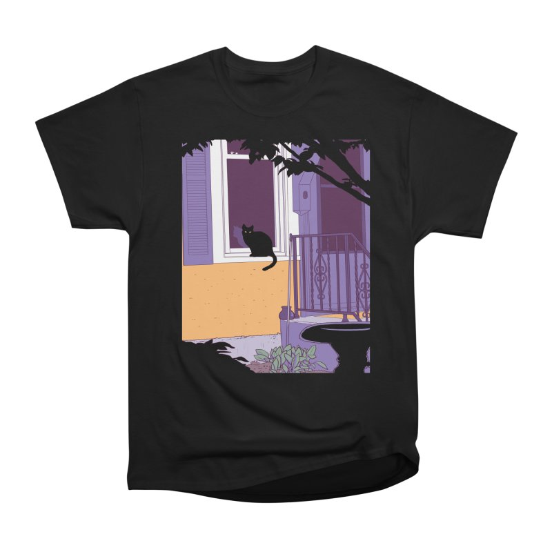 Black Cat Men's Heavyweight T-Shirt by Kristin Tipping