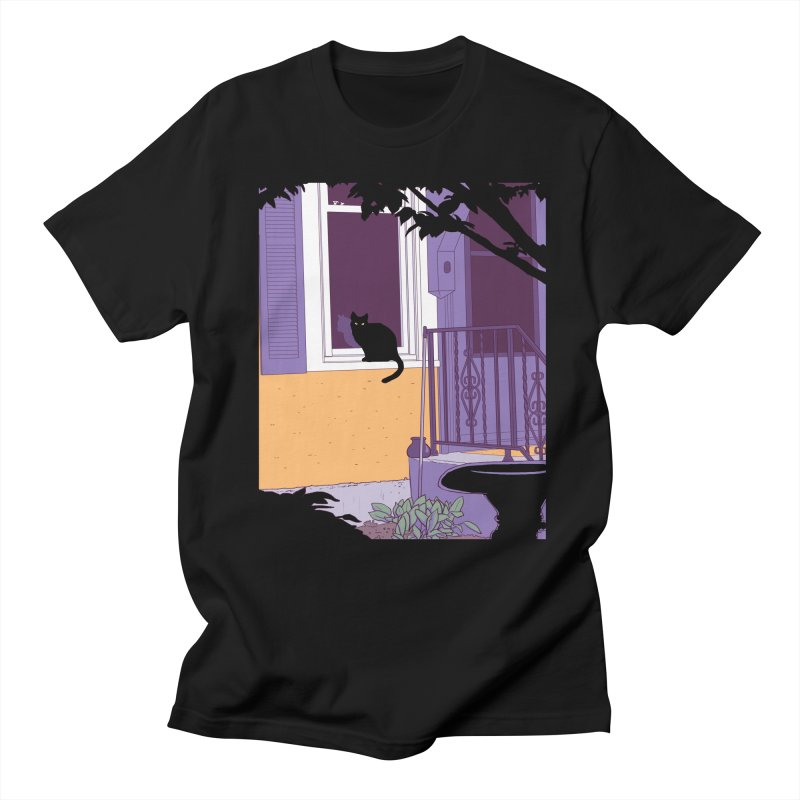 Black Cat Men's T-Shirt by Kristin Tipping