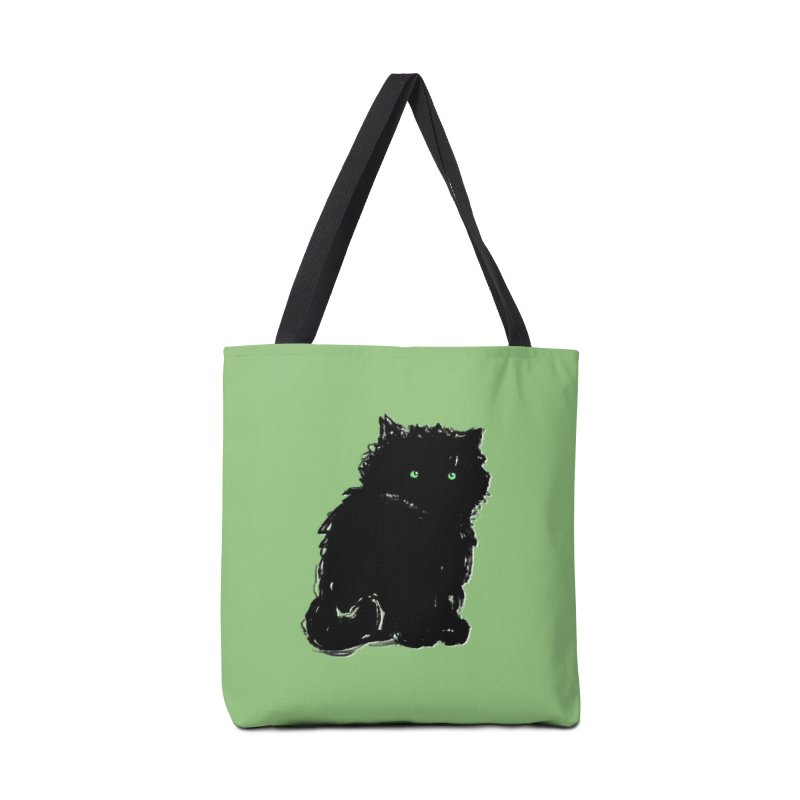 Little Black Puff in Tote Bag by Kristin Tipping