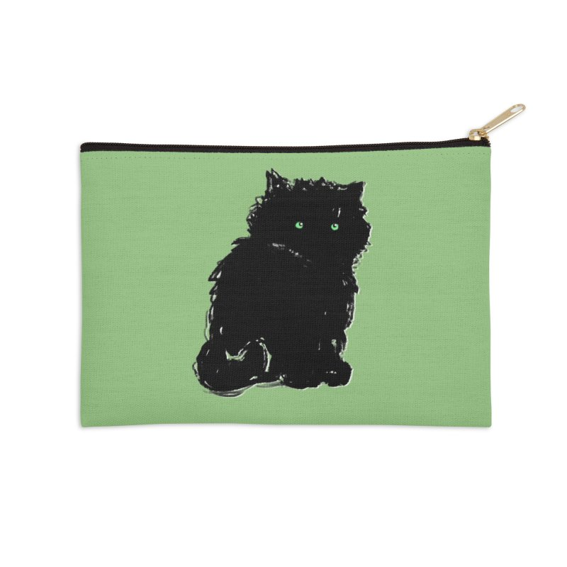 Little Black Puff Accessories Zip Pouch by Kristin Tipping