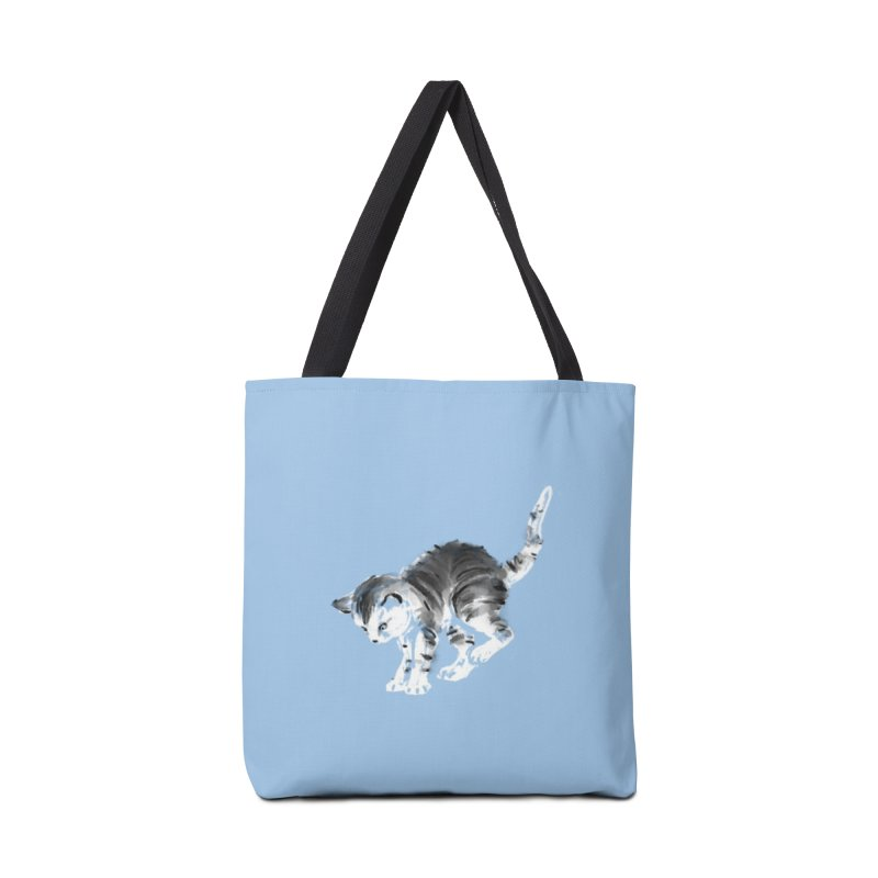 Pounce in Tote Bag by Kristin Tipping