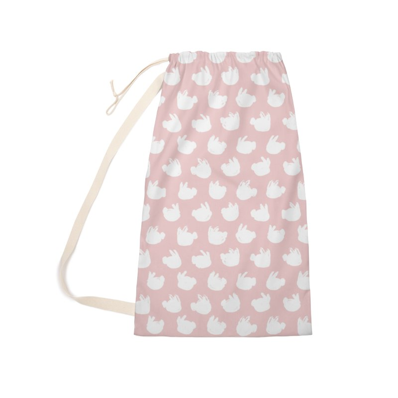 Fluff Bunnies Pattern Accessories Bag by Kristin Tipping