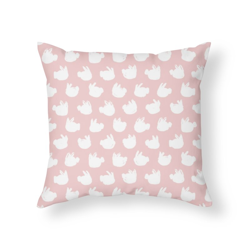 Fluff Bunnies Pattern in Throw Pillow by kristintipping's Artist Shop