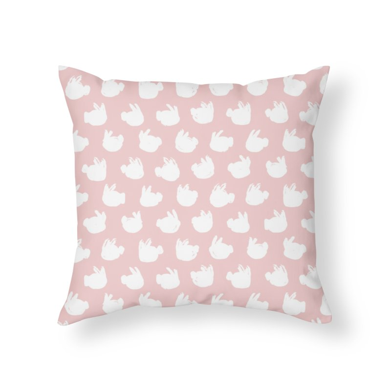 Fluff Bunnies Pattern Home Throw Pillow by Kristin Tipping