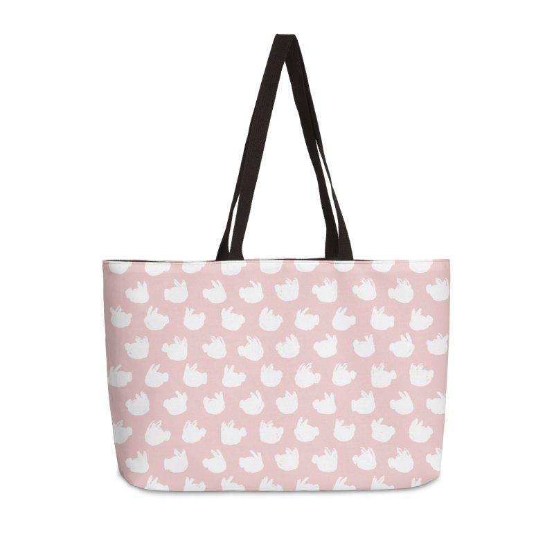 Fluff Bunnies Pattern Accessories Weekender Bag Bag by Kristin Tipping